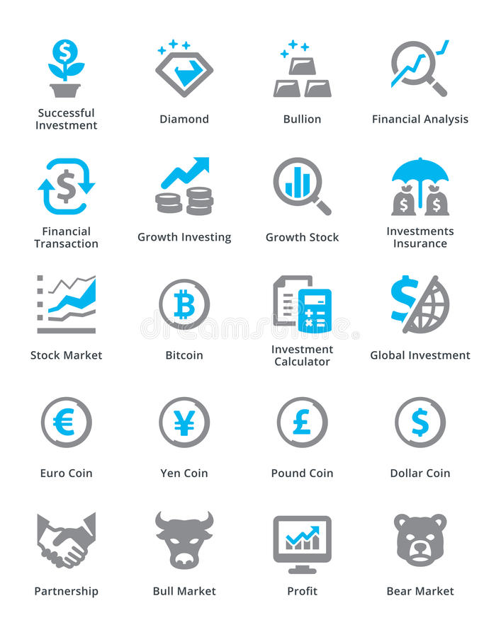 Personlig & för affärsfinanssymboler uppsättning 4 - Sympa serie royaltyfri illustrationer