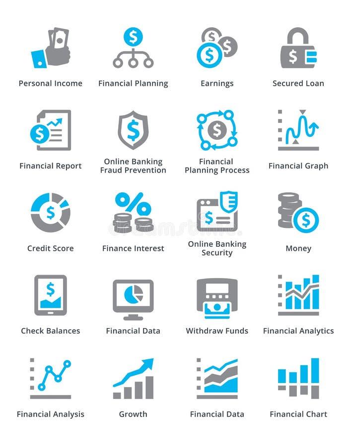 Personlig & för affärsfinanssymboler uppsättning 5 - Sympa serie vektor illustrationer