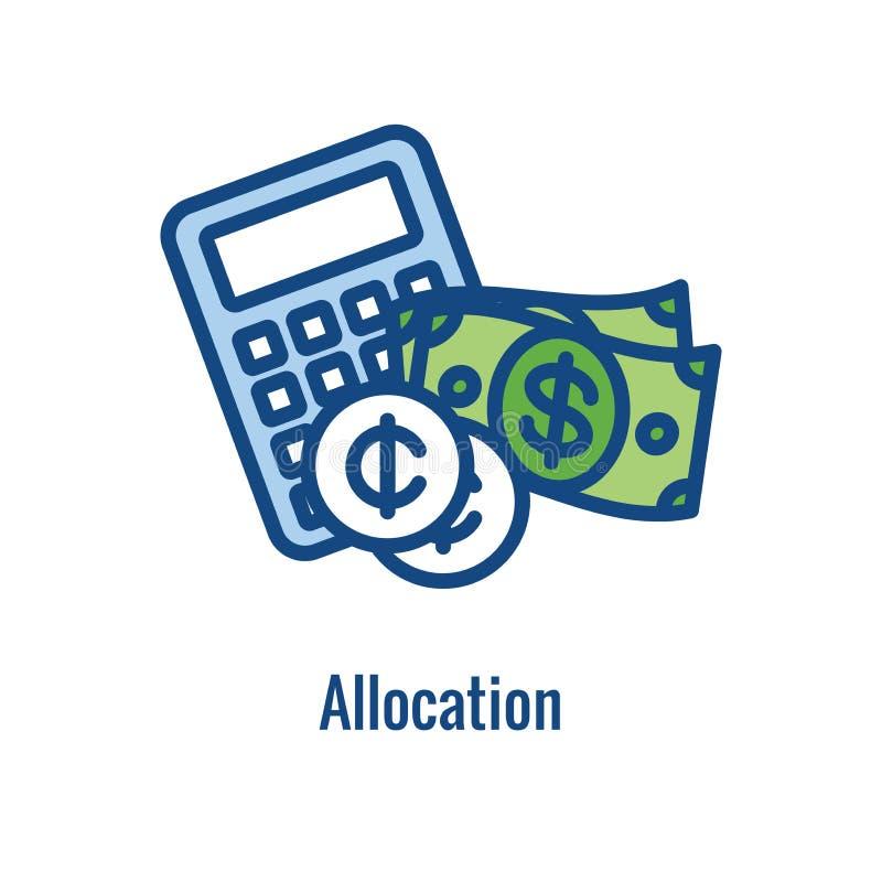 Personlig finans - ansvarsymbol - begreppet g?ller sparande pengar stock illustrationer
