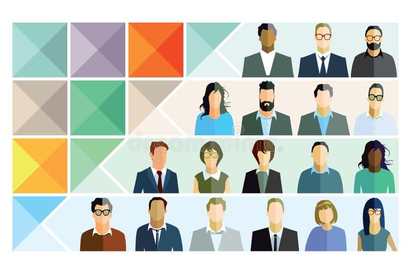 personlig information stock illustrationer
