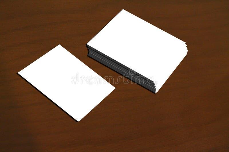 Personlig kortmall royaltyfria bilder