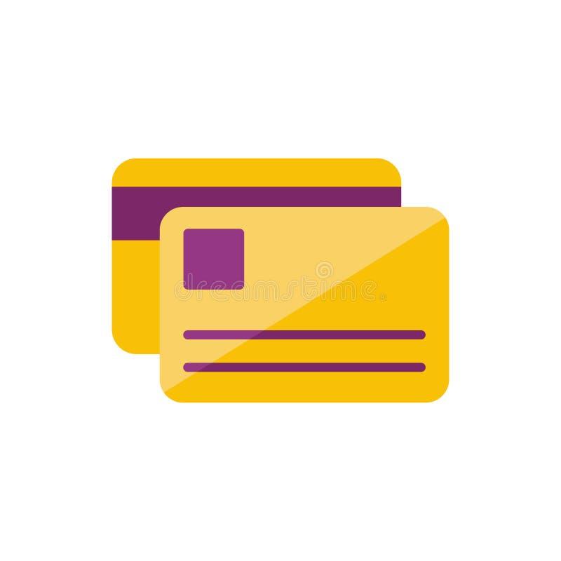 Personlig kreditkort vektor illustrationer