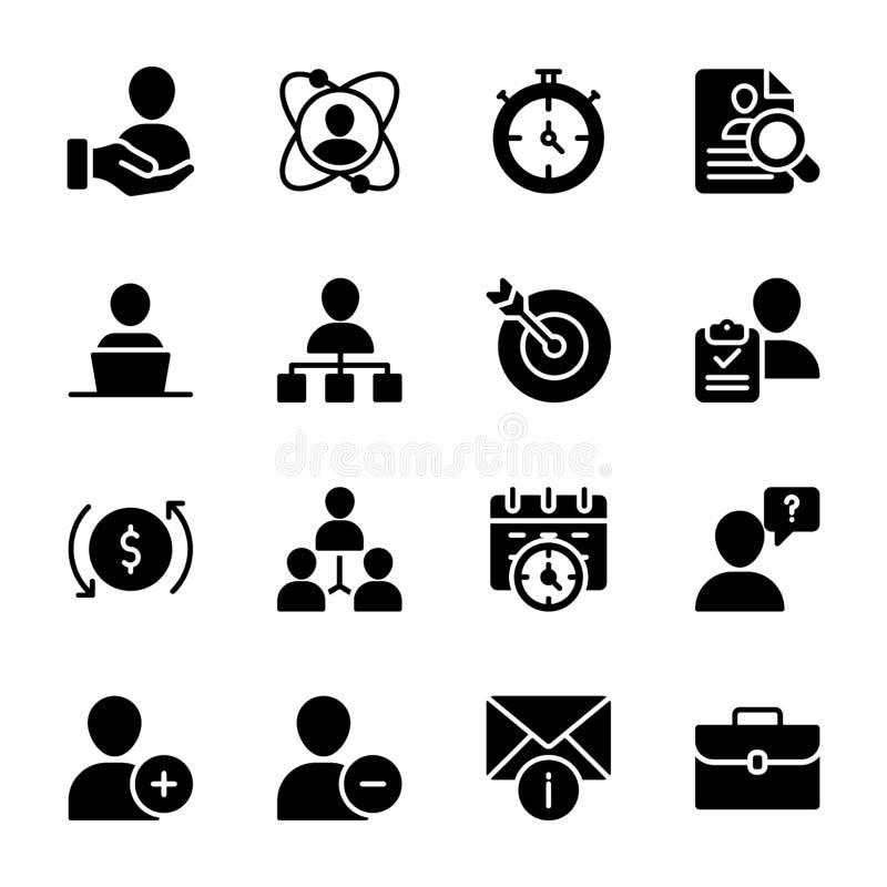 Personlig kvalitet, fasta vektorer för anställdledning royaltyfri illustrationer
