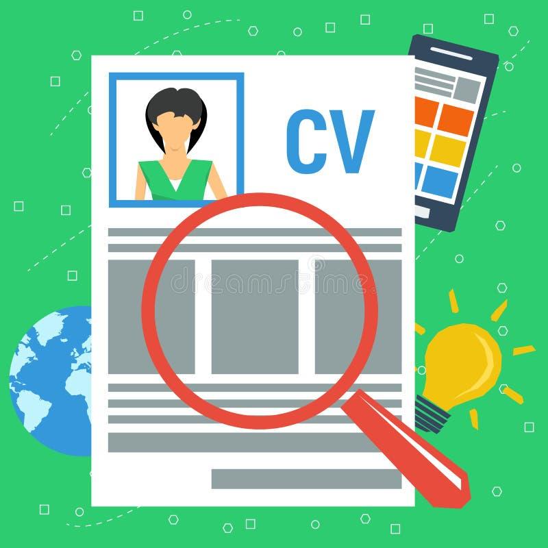 Personlig meritförteckning för vektorbegrepp royaltyfri illustrationer