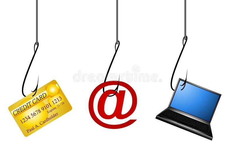 personlig phishing för data stock illustrationer