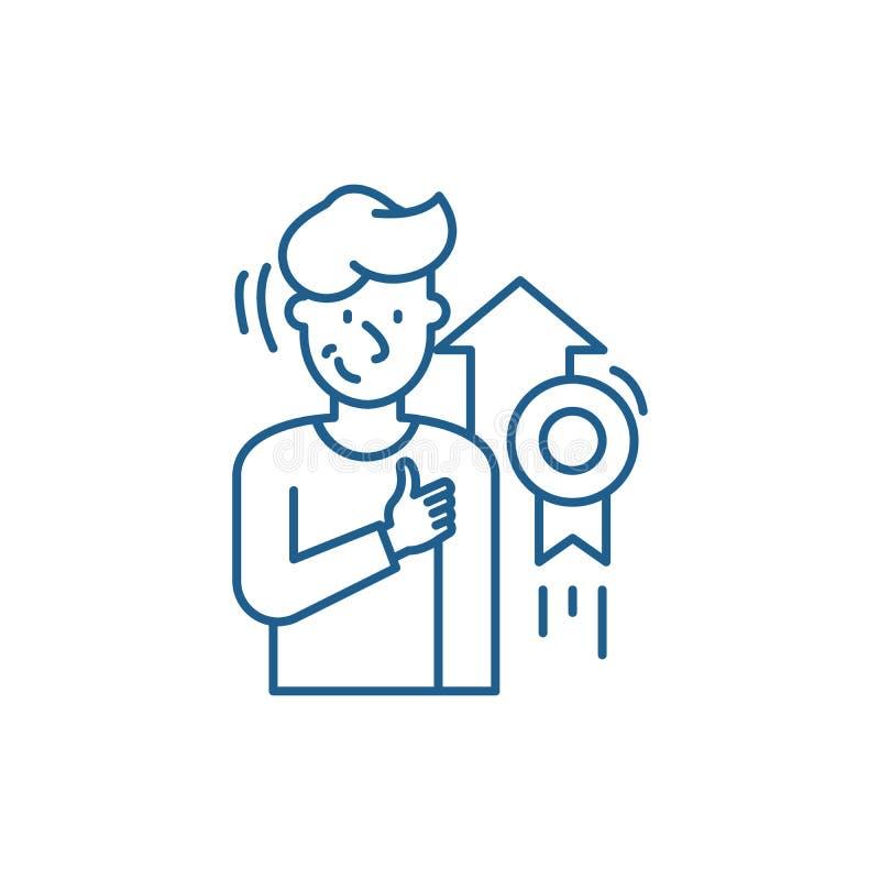 Personlig prestationlinje symbolsbegrepp Plant vektorsymbol för personlig prestation, tecken, översiktsillustration royaltyfri illustrationer