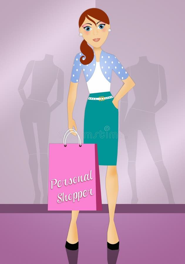 personlig shoppare stock illustrationer