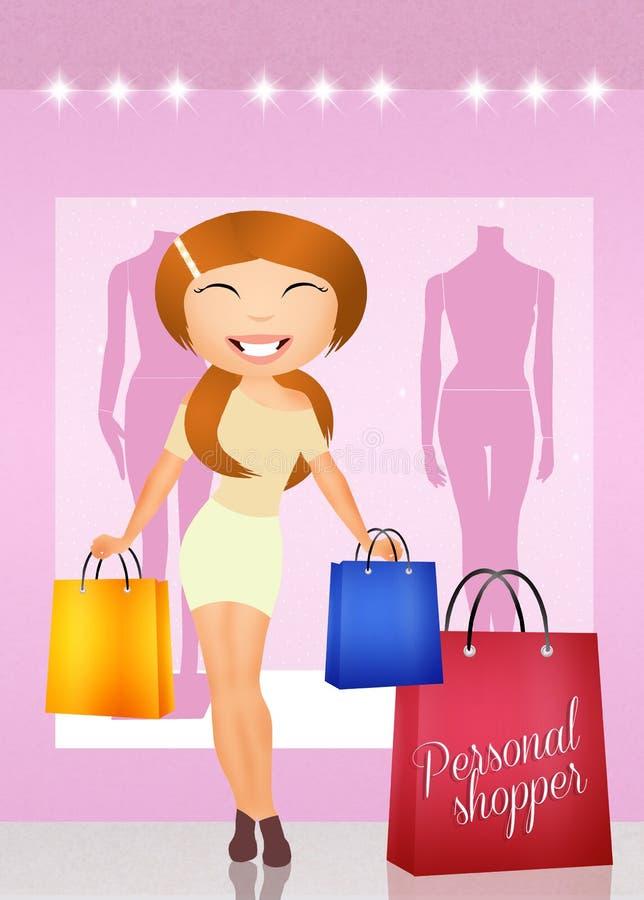 personlig shoppare vektor illustrationer