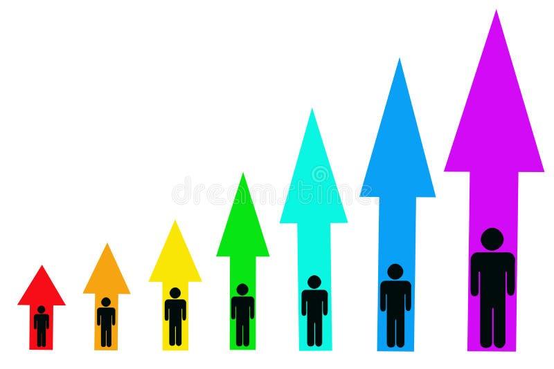 personlig tillväxt stock illustrationer