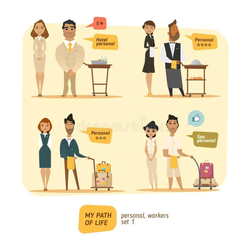 Personlig vektorillustration för hotell royaltyfri illustrationer