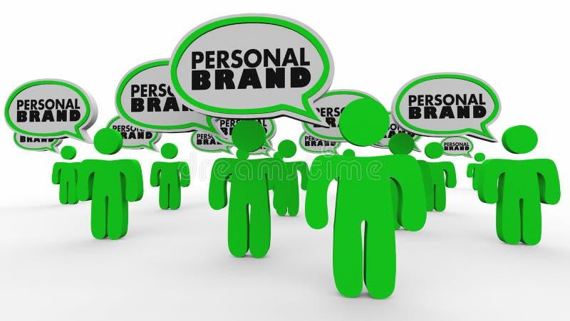 Personliga bubblor för märkesfolkanförande marknadsför sig 3d Illustra royaltyfri illustrationer