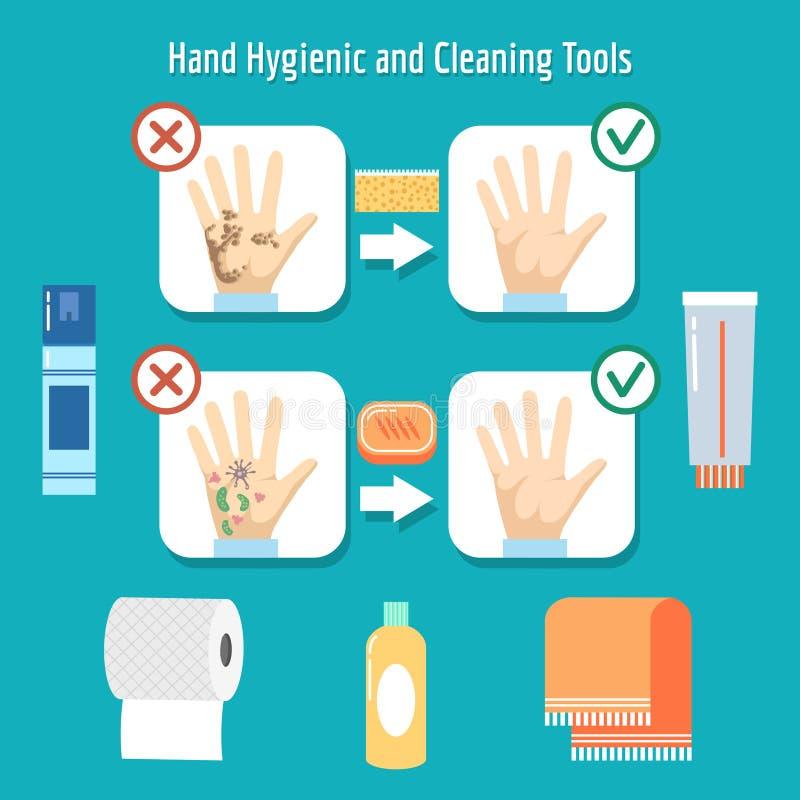 personliga hygienobjekt royaltyfri illustrationer