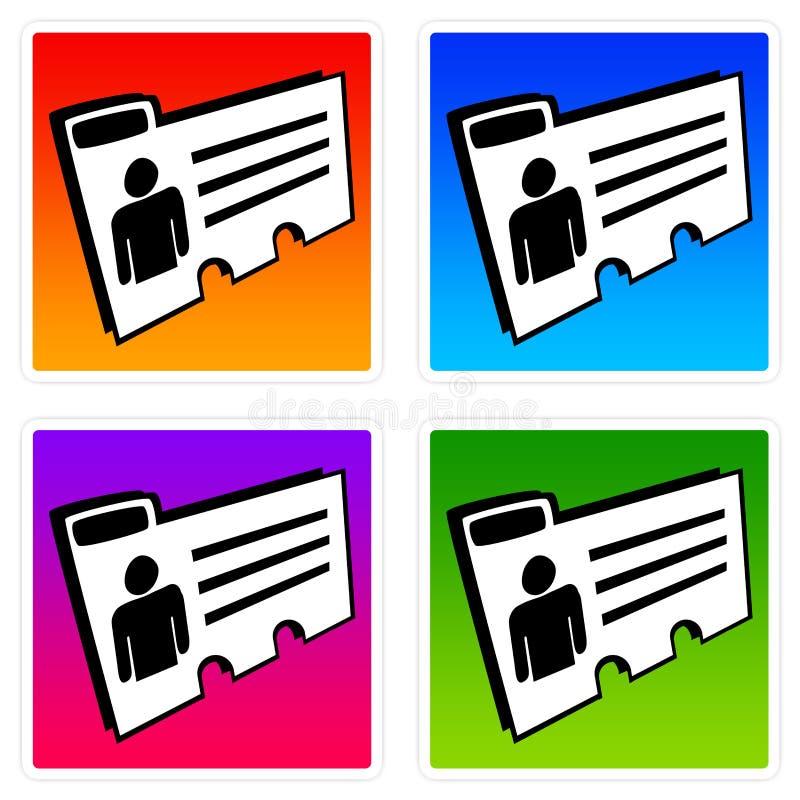Personliga mappar stock illustrationer