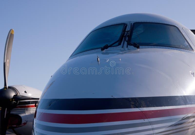Personligt Jet och himlen royaltyfri foto