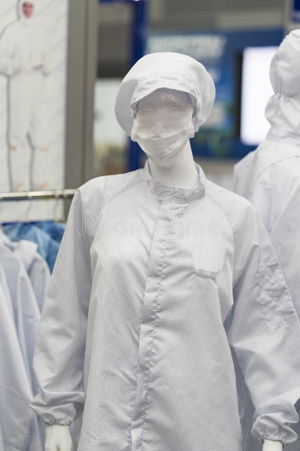 Personligt skydda utrustning för mat och den industriella läkarundersökningen arkivfoto