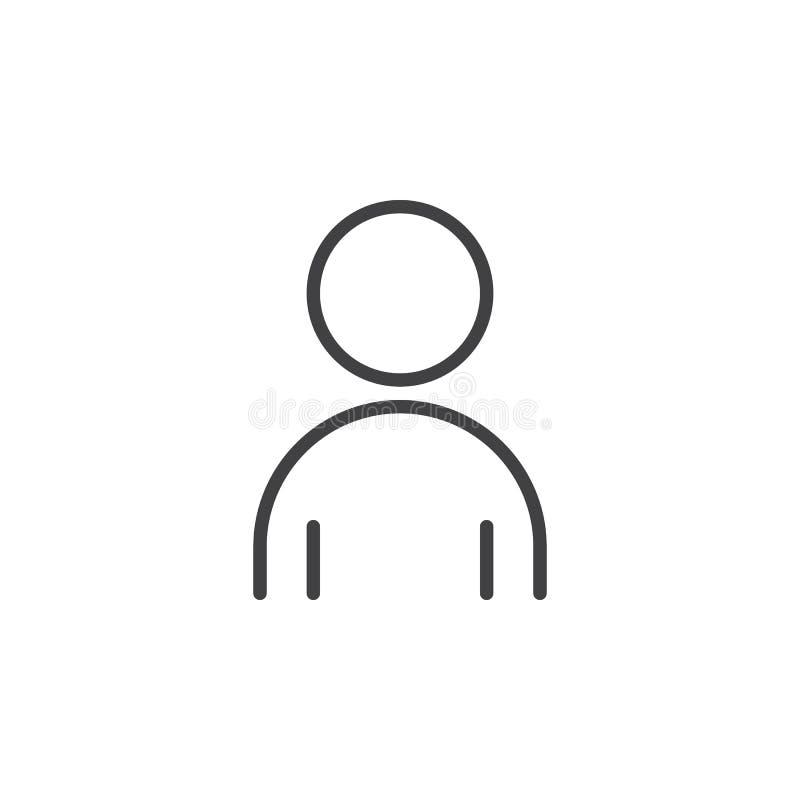 Personlinje symbol, översiktsvektortecken stock illustrationer