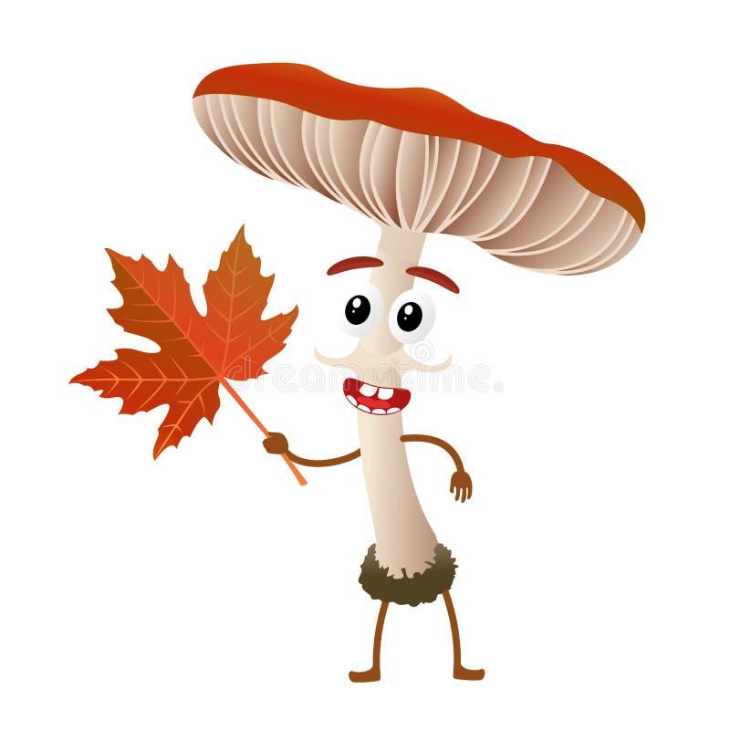 Personnage de dessin animé de champignon illustration de vecteur