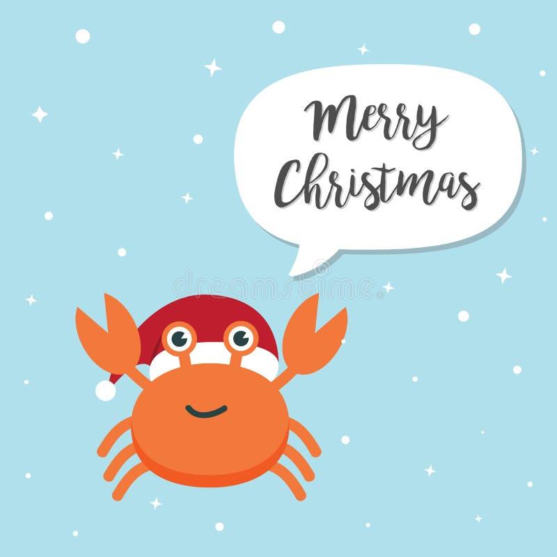 Personnage de dessin animé de crabe illustration stock