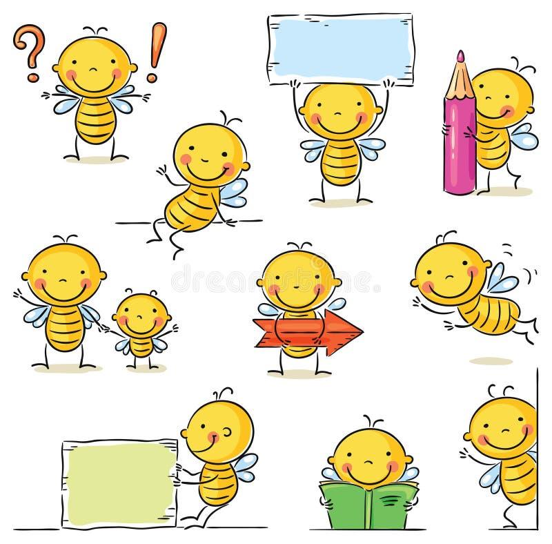 Personnage de dessin animé d'abeille illustration stock