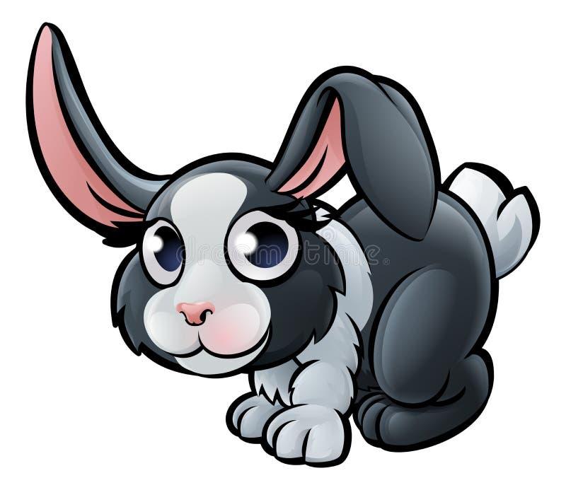 Personnage de dessin animé d'animaux de ferme de lapin illustration de vecteur