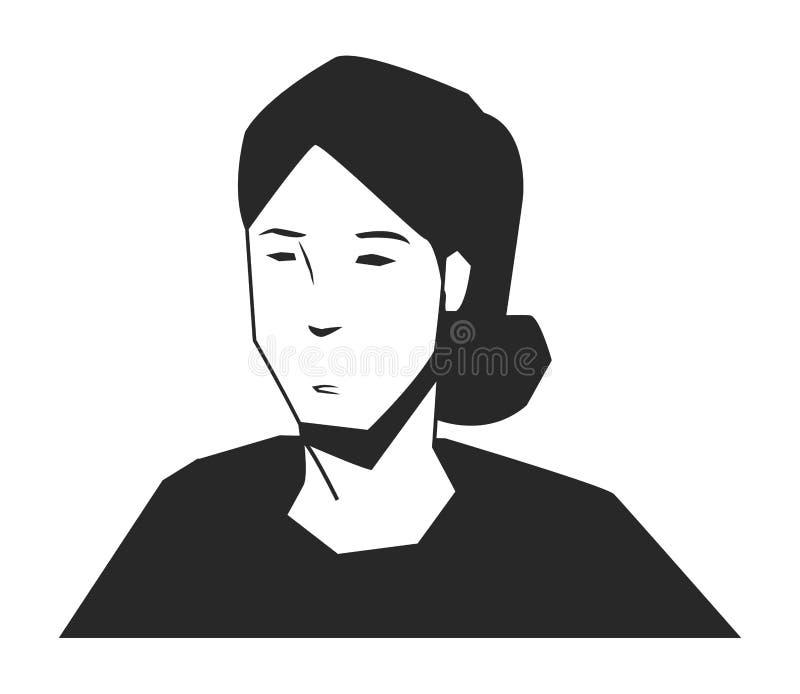 Personnage De Dessin Animé Davatar De Visage De Femme En