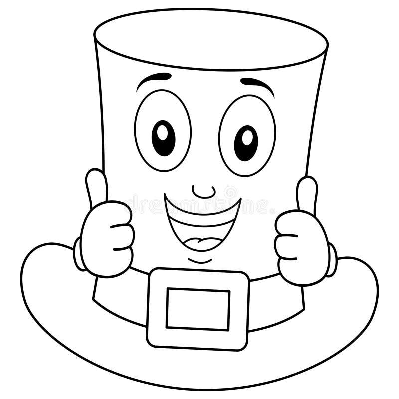 Personnage de dessin animé de chapeau du ` s de St Patrick de coloration illustration libre de droits