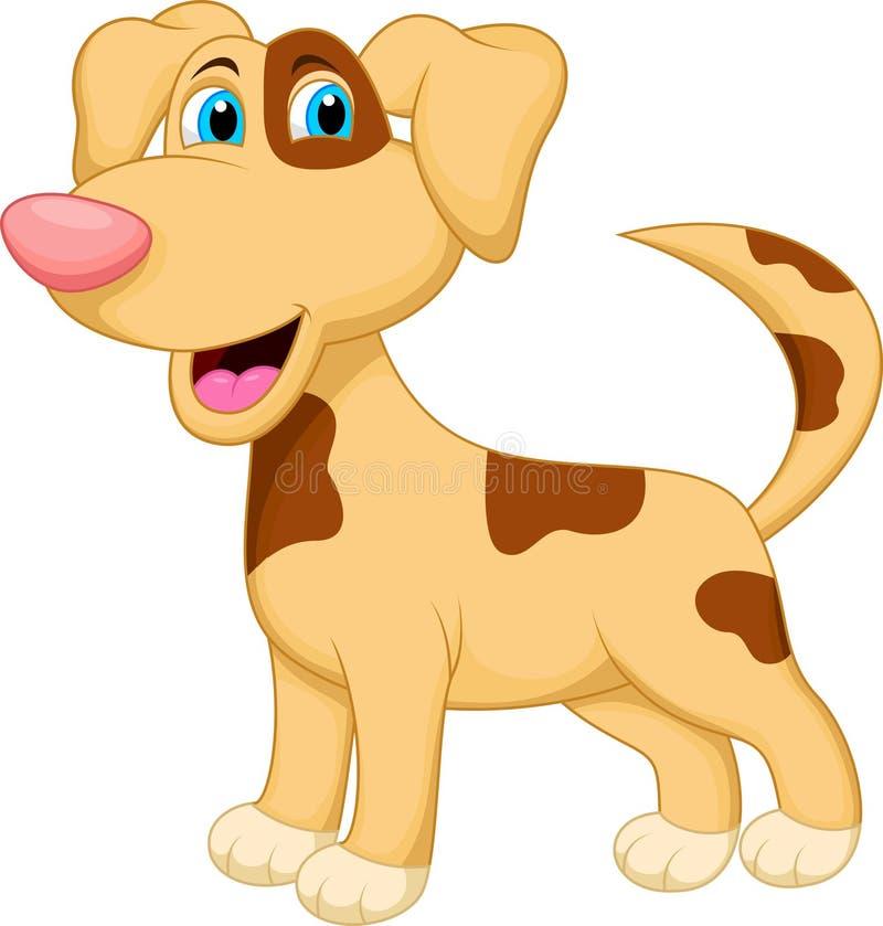 Personnage de dessin animé de chien illustration libre de droits