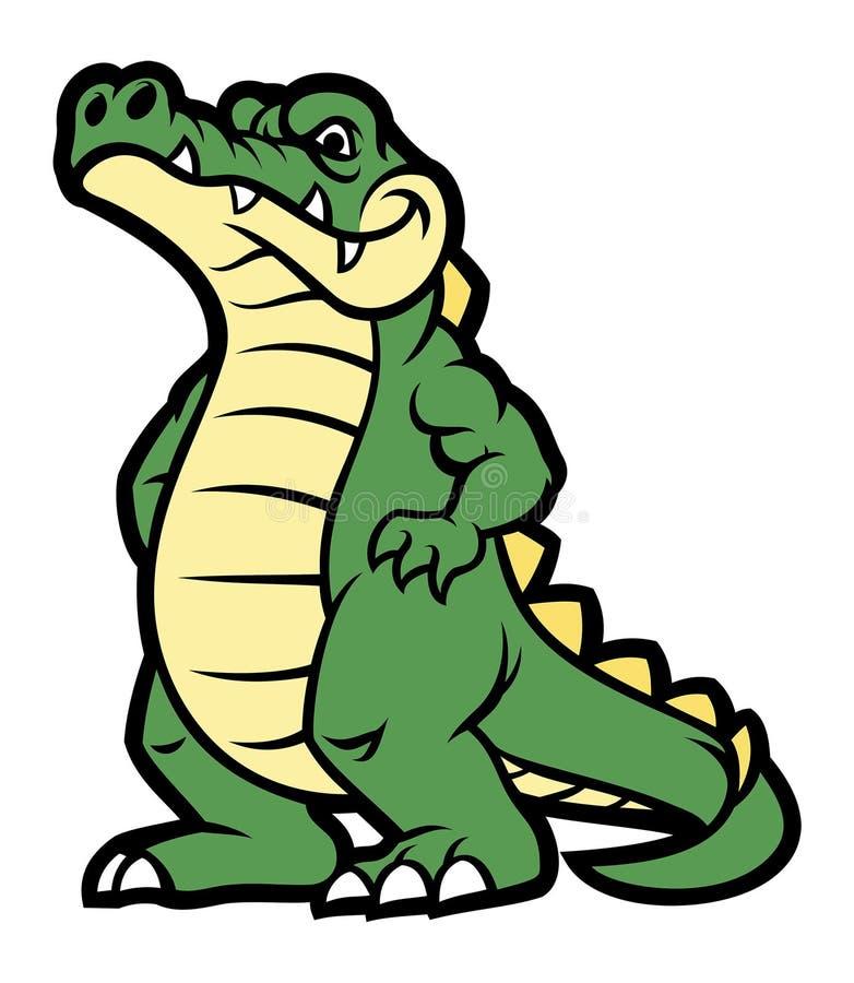 Personnage de dessin anim de crocodile illustration de vecteur illustration du alligator - Dessin anime crocodile ...