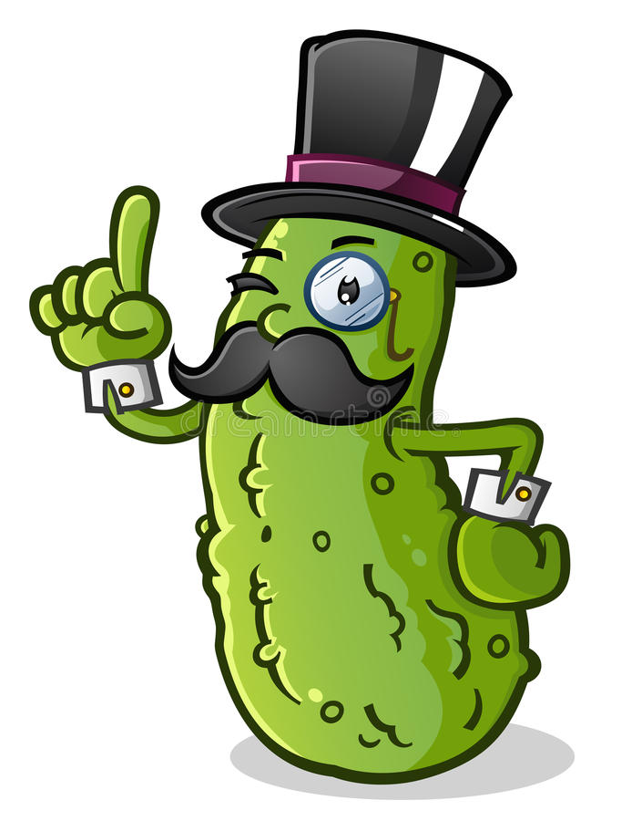 Personnage de dessin animé de monsieur de conserves au vinaigre illustration de vecteur
