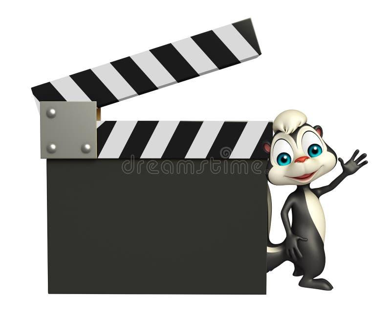 Personnage de dessin animé de mouffette avec le bardeau illustration libre de droits