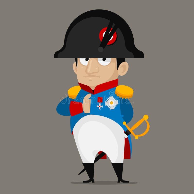 Personnage de dessin animé de Napoleon Bonaparte illustration de vecteur