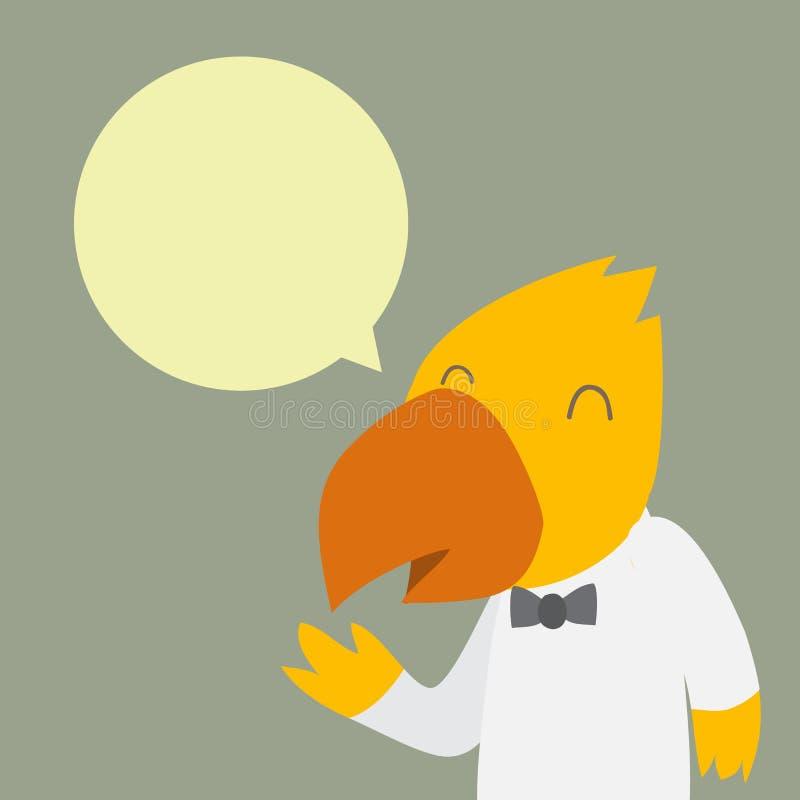 Personnage de dessin animé de personnel d'oiseau illustration libre de droits