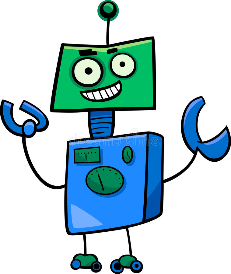 Personnage de dessin animé de robot illustration de vecteur