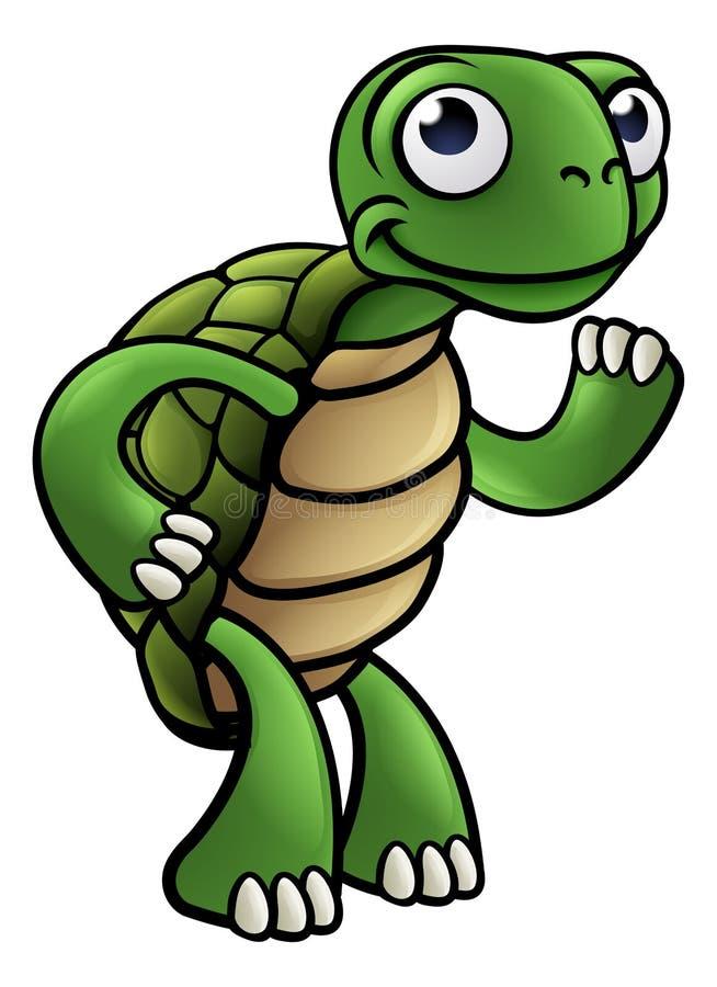 Personnage de dessin animé de tortue illustration libre de droits