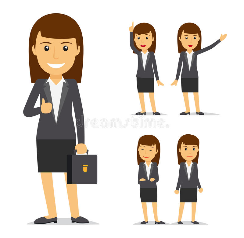 Personnage de dessin animé de vecteur de femme d'affaires illustration de vecteur