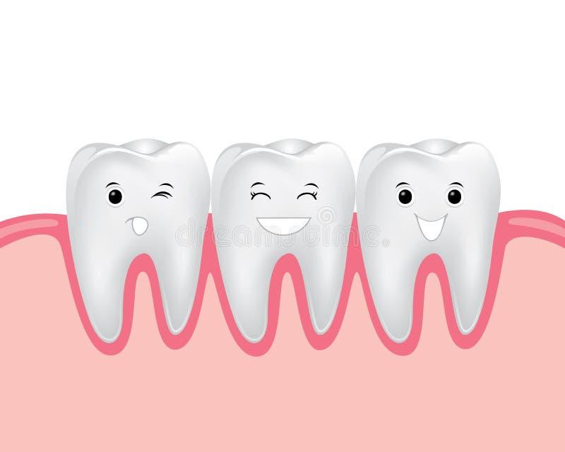 Personnage de dessin animé dentaire illustration stock