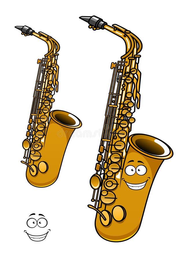 Personnage de dessin anim en laiton brillant de saxophone - Saxophone dessin ...