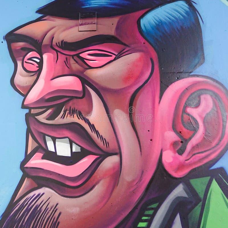 Personnage de dessin animé fâché d'homme images libres de droits