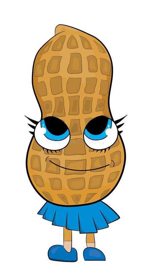 Personnage de dessin animé heureux d'arachide illustration libre de droits