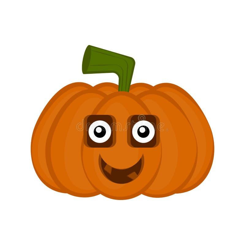 Personnage de dessin animé heureux de potiron de Halloween illustration libre de droits