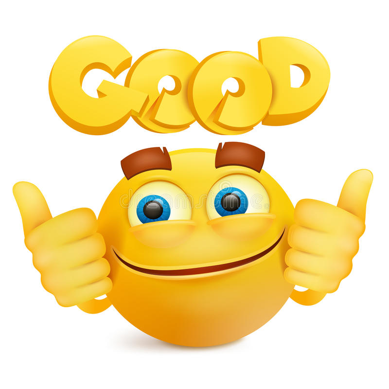 download personnage de dessin anim jaune demoji de visage de sourire illustration stock - Dessin Emoji