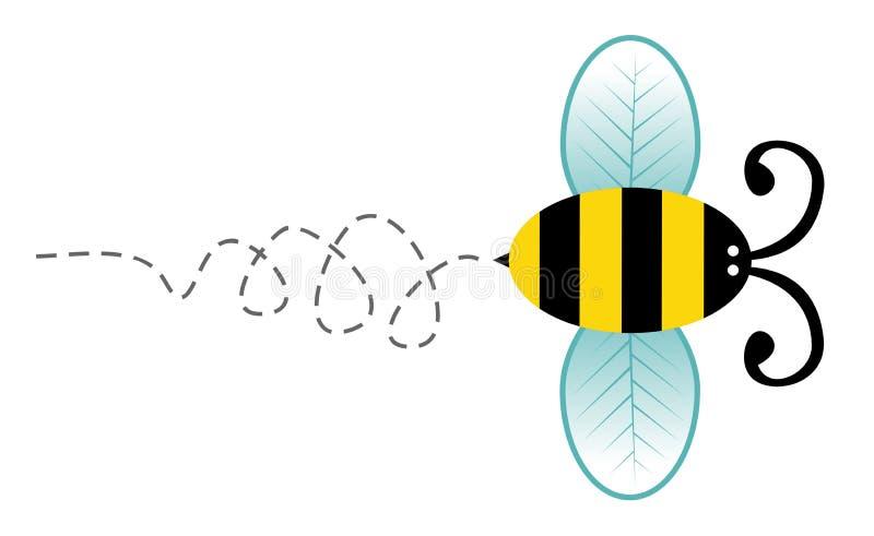 Personnage de dessin animé mignon d'abeille illustration stock