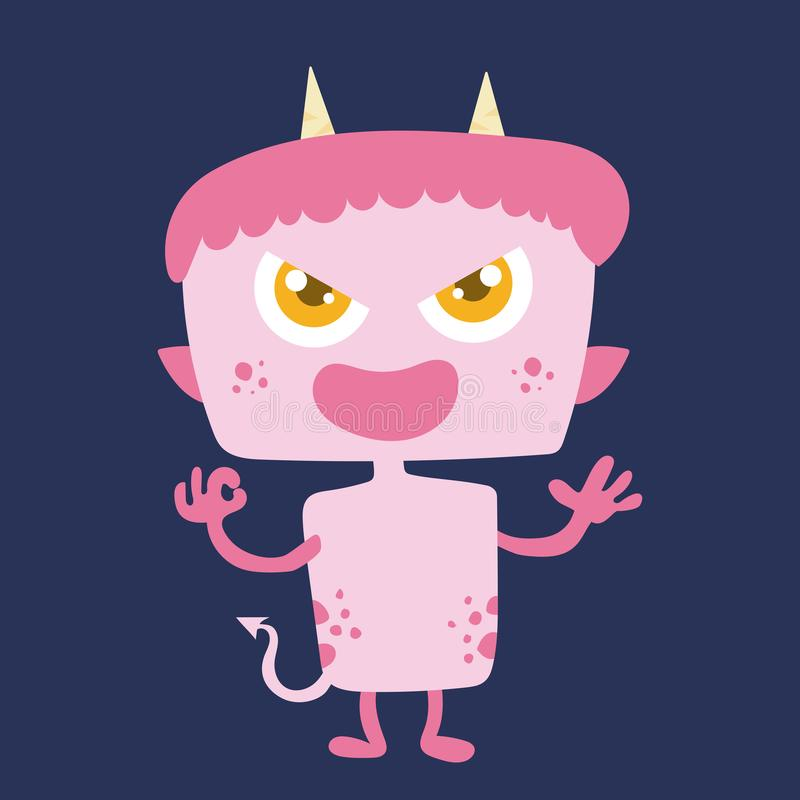 Personnage de dessin animé mignon 009 de monstre illustration de vecteur
