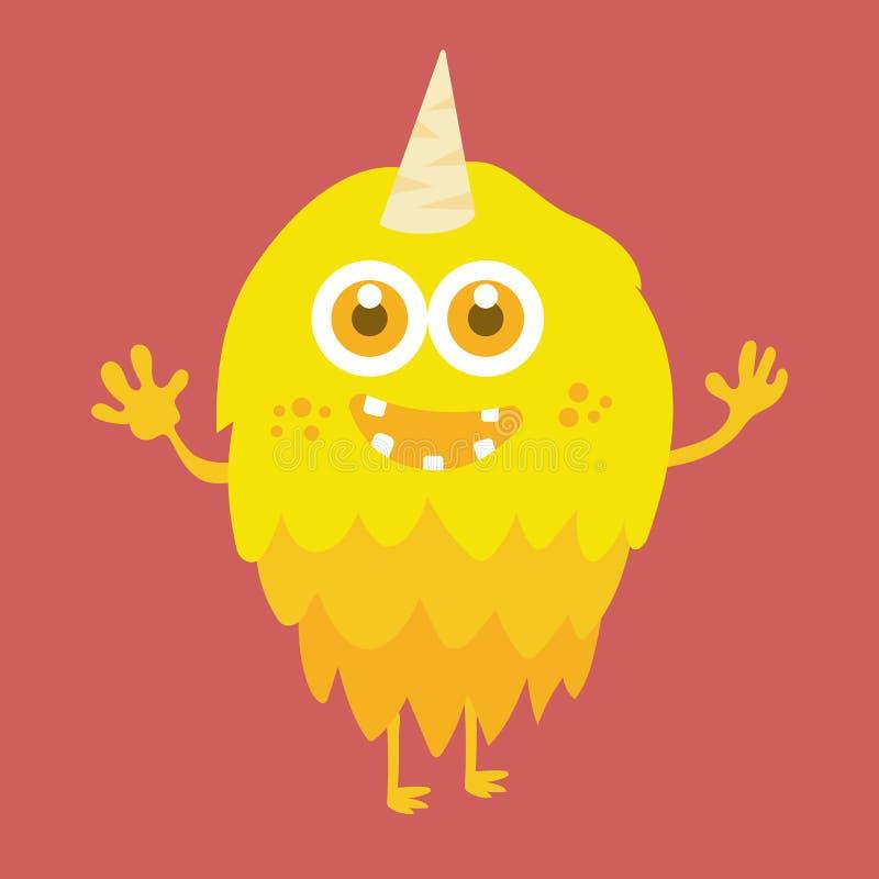 Personnage de dessin animé mignon 010 de monstre illustration libre de droits