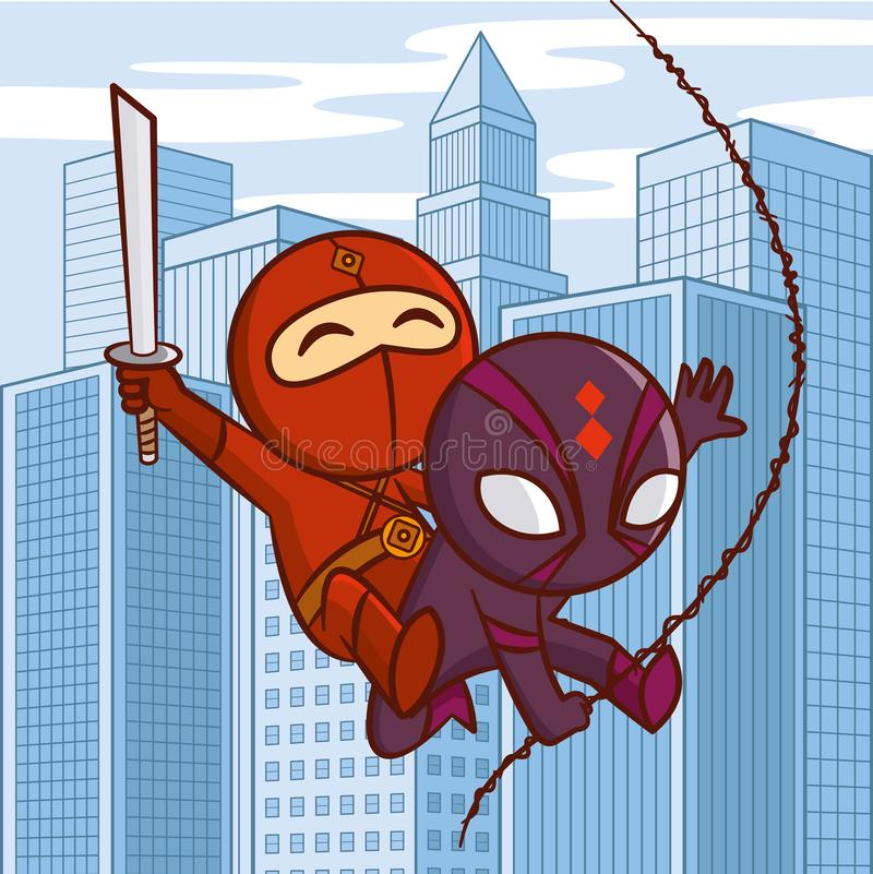 Personnage de dessin animé de super héros illustration de vecteur