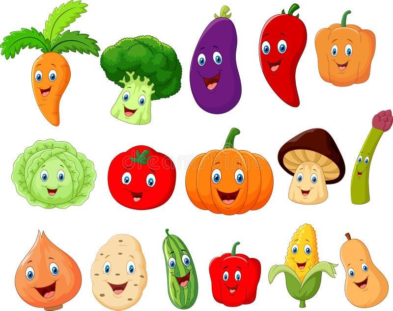 Personnage de dessin animé végétal mignon illustration de vecteur