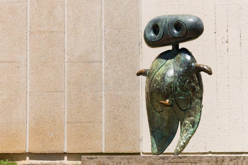 Personnage 1970 - Joan Miro - Βαρκελώνη στοκ εικόνες
