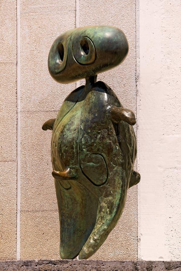 Personnage 1970 - Joan Miro - Barcellona fotografie stock libere da diritti