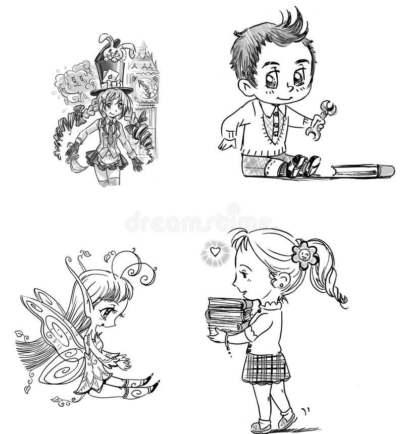 Personnages de dessin animé illustration de vecteur