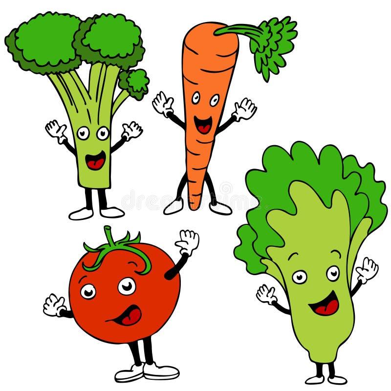 Personnages de dessin animé de nourriture illustration libre de droits